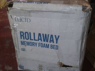 lucid Rollaway Folding Guest Bed with Memory Foam Mattress   Cot
