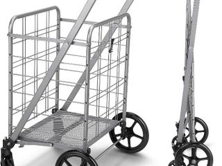 Sturdy  lightweight and large Flat Folding Shopping Utility Cart