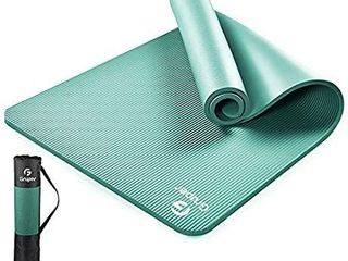 Gruper Classic Non Slip Exercise   Fitness Thick Yoga Mat with Carrying Strap  Training Mat for All Kinds of Yoga  Pilates and Floor Exercises