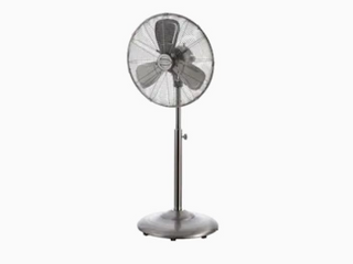 Indoor Stand Fan 3 Speed Energy All Metal Construction Freestanding Durable 1pc