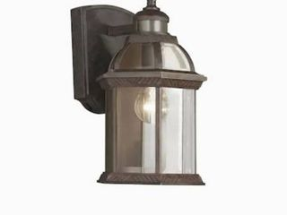 Portfolio 14 5 in H Rust Motion Activated Outdoor Wall light