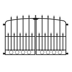 No Dig Powder Coated Steel Fence Gate  Common  29 3 in x 46 77 in  Actual  29 3 in x 46 77 in
