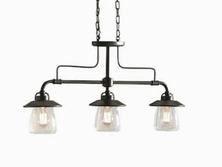 Allen   Roth Bristow 3 light Specialty Bronze Island Pendant Kbf8393a