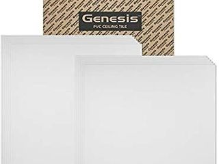 Genesis Smooth Pro lay in White Ceiling Tile 2  X 2   pack Of 12