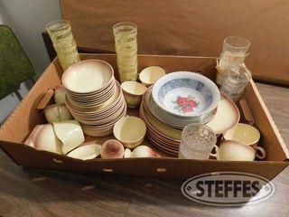 Box of Dish Glassware 1 jpg