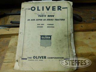 Parts Book for Oliver 88 Super 88 Tractors 1 jpg