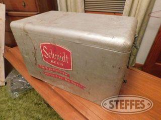 Vintage Schmidt Aluminum Beer Cooler 2 jpg