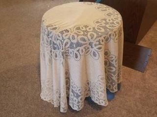 26  CARDBOARD STAND  WITH BlUE AND A VINTAGE lACY