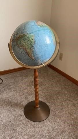 GlOBE ON STAND   30 IN HIGH