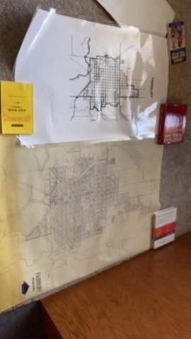2 MAPS OF FAIRBURY NE   ONE IS lAMINATED