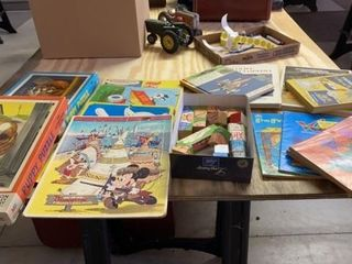 PUZZlES   PICK UP STICKS  COlORING BOOKS AND 4