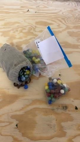 3 BAGS OF MARBlES
