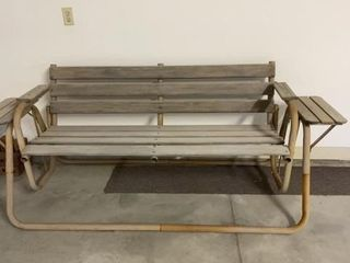 GlIDER  WOODEN WITH METAl FRAME
