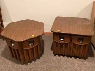 SET OF END TABlES THAT ARE FOR STORAGE AlSO