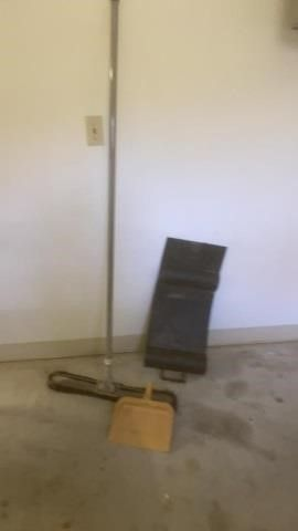BIG BROOM  DUST PAN AND PARK SMART GUIDE AND FlAG
