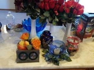 VACES WITH ARTIFICIAl FlOWERS  THERMOMETER