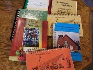 9 COOK BOOKS   CHURCH  4 H  CENTENNIAl