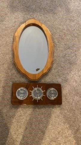 WEATHER GAUGE AND OVAl MIRROR