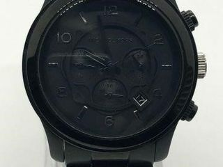 MICHAEL KORS MENS BLACK PVD CHRONOGRAPH WATCH-USED