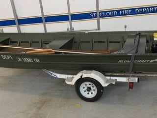 16' Aluma Craft 1670 Jon Boat with Trailer