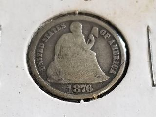 1876-CC CARSON CITY SEATED LIBERTY DIME