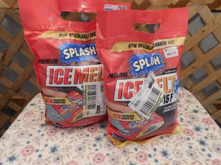 2 Splash Premium Ice Melt 10lb Shaker Bags