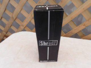 Shredded foundation stainless steel protein shaker bottle