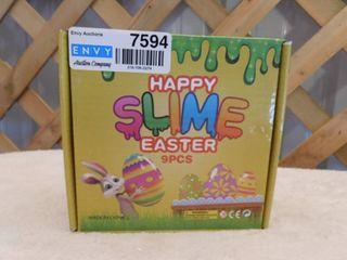 Happy slime easter eggs  9pcs