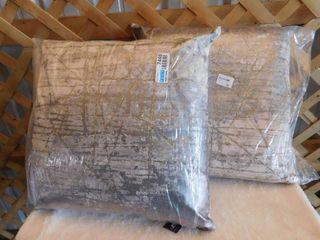 2 Rizzy square decorative pillows 20inx20in