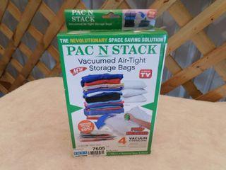 Pac N Stack Vacuumed air tight storage bags  4 pack