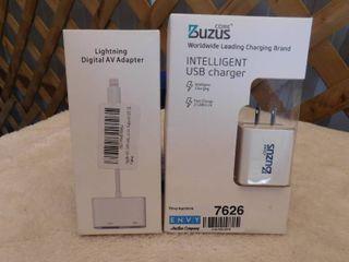 Core Buzus intelligent USB charger  lightning digital AV adapter