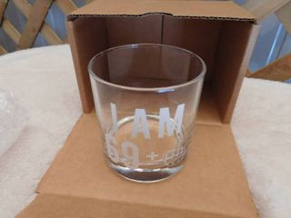 69 one Middle finger whiskey glass