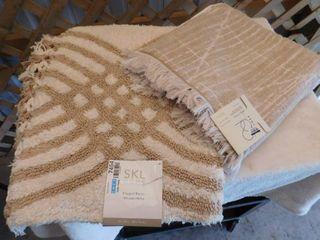 SKl home fringed waves pile rug 20inx30in  Project 62 bath towel 27inx52in