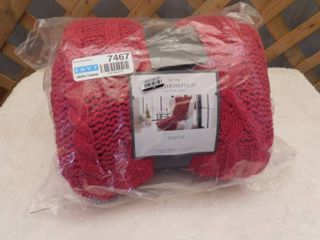 Threshold knit throw 50inx60in