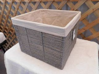 Threshold Hand crafted paper rope storage basket 14 3 4in l x13in W x 11in H