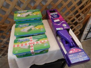 Swiffer wet jet mopping kit with 84 sweeper wet mopping cloths