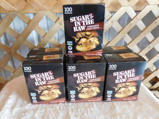 7 boxes of sugar in the raw 100 packets per box