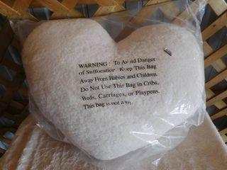Room essentials heart shaped toss pillow 25inx21in