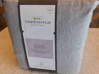 Threshold King flannel sheet set