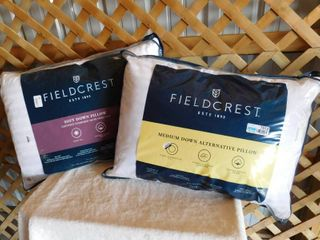 Fieldcrest medium down alternative pillow 20inx28in  Fieldcrest soft down pillow 20inx28in