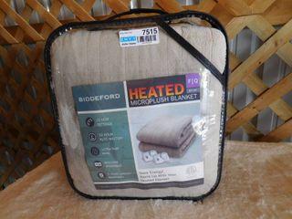 Biddeford Full Queen Heated Microplush Blanket