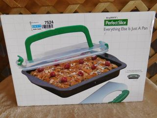 Perfect Slice   A Non Stick Bakeware and Custom Slicing System In One 13in x 9in