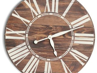Brandtworks Farmhouse Wood Oversized Wall Clock 36