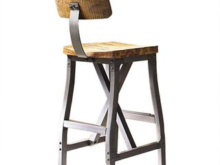 INK IVY lancaster Amber  Graphite Counter Stool with Back   17 5 W x 21 625 D x 37 625 H Retail 184 42