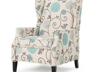 Wescott Wingback Floral Recliner Club Chair