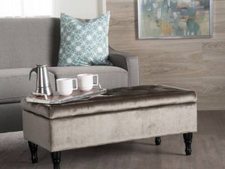 Chantelle Tufted Velvet Storage Ottoman Bench by Christopher Knight Home