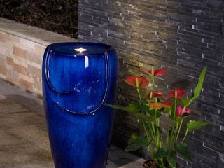 Demta 20  Ceramic Fountain with lED light by Havenside Home