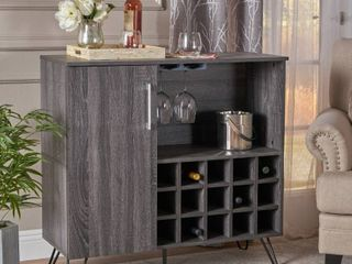 lochner Mid Century Faux Wood Wine and Bar Cabinet by Christopher Knight Home Retail 232 99