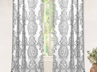 The Curated Nomad Alameda Pastel Damask Room Darkening Curtain Panel Pair   Set of 2