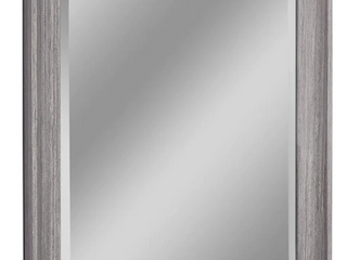 allen   roth Rectangular Mirror w  Beveled Glass   Solid Wood Frame